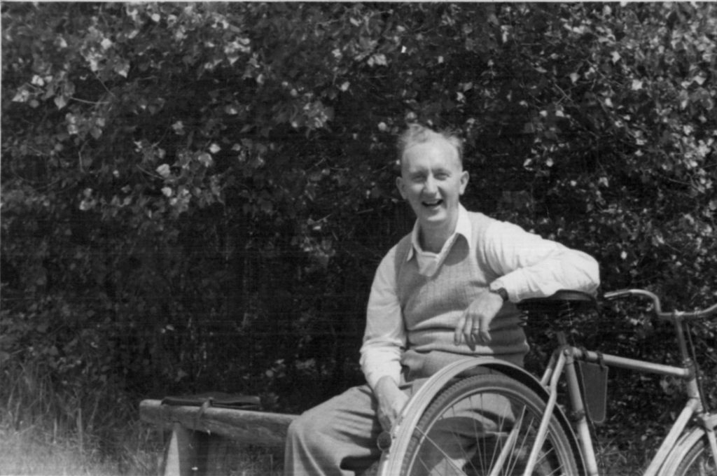 1947 Bill on bicycle outing