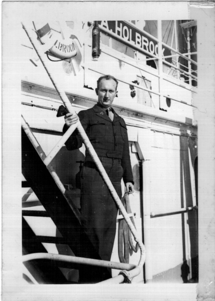 1947 Bill returning from Allied occupation to Brooklyn