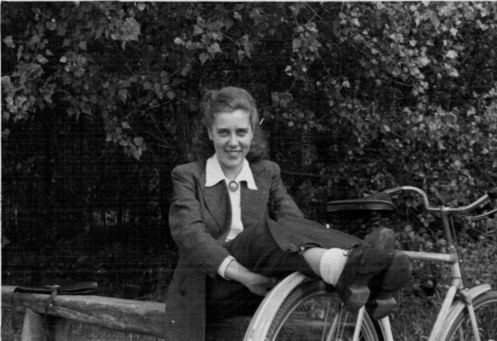 1947 Karola on bicycle outing