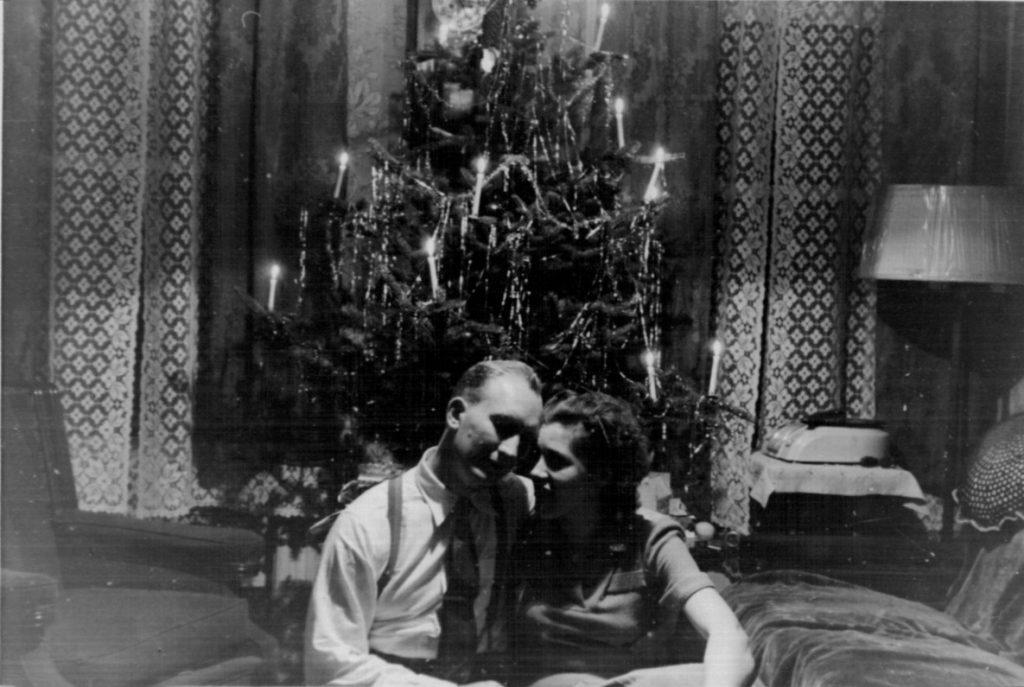 Dec. 29, 1947, Brooklyn, Bill & Karola on her 25th birthday, one day after arriving in America