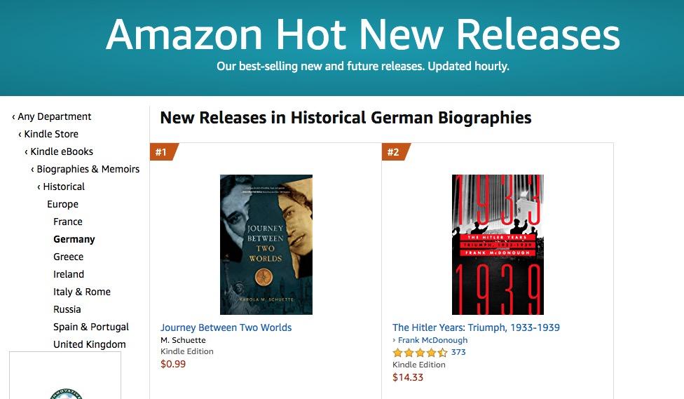 "Journey Between Two Worlds Receives ""#1 New Release"" Amazon Badge!"